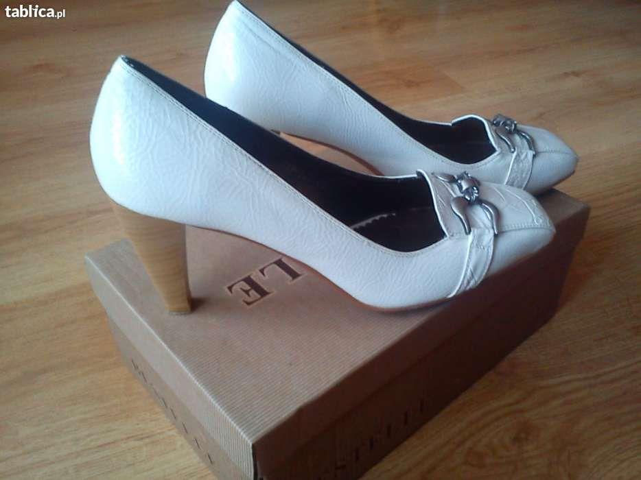 Białe buty-40 nowe bardzo modne zobacz!! Szczecinek - image 1