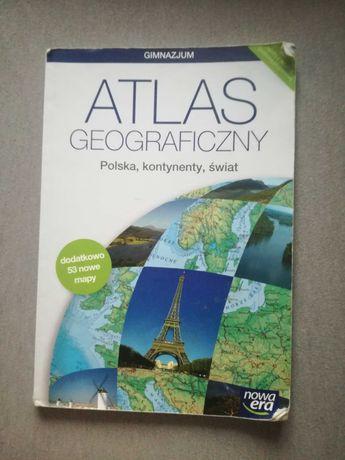 Atlas geograficzny - Polska, kontynenty, świat