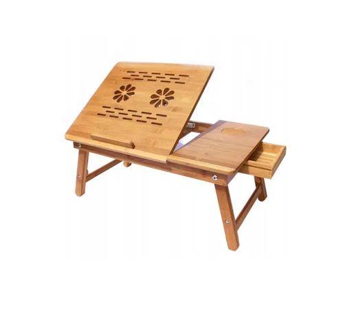 bambusowy stolik pod laptop taca do łóżka