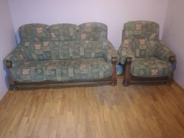 kanapę z funkcją spania +fotel