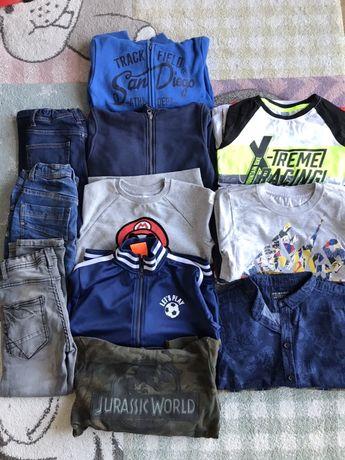 Paka ubran 116 jeansy bluza tshirt bluzka koszula