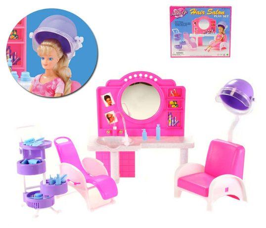 Fryzjer dla lalki Barbie salon urody salon fryzjerski