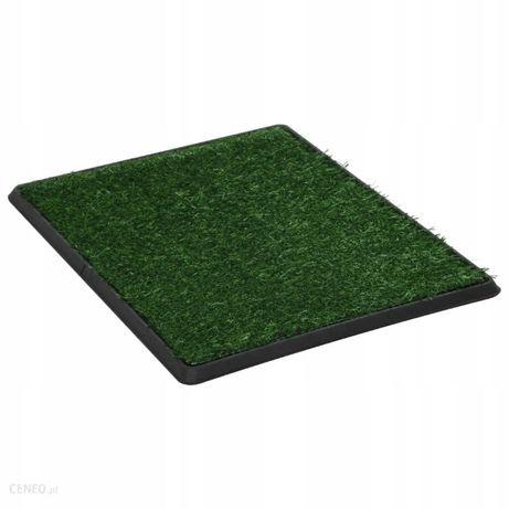 toaleta dla zwierząt z tacą i sztuczną trawą