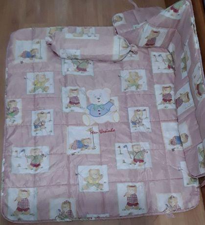 Edredom + protecção de grades berço de bebé