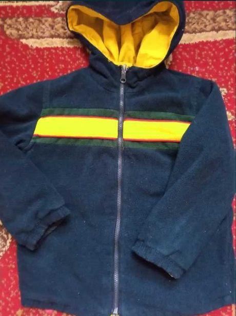 Джинсы спортивные двухсторонняя куртка курточка ветровка на флисе 116