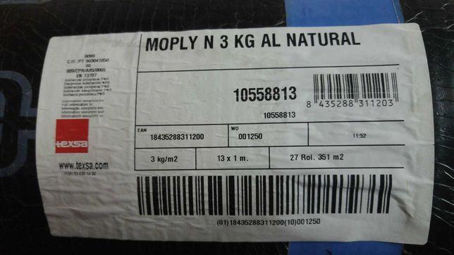 Tela asfáltica com alumínio 3Kg/m