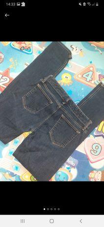 Темно- синие скинни узкие джинсы