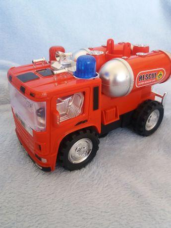 Wóz strażacki efekty dźwiękowe świeci straż pożarna