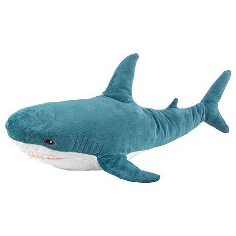 Мягкая игрушка акула 100 см икеа, ikea