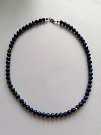 Naszyjnik LAPIS Lazuli złoto 333 OKAZJA