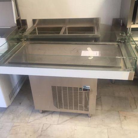 Mesa Refrigerada Para Peixaria 1,5m NOVA