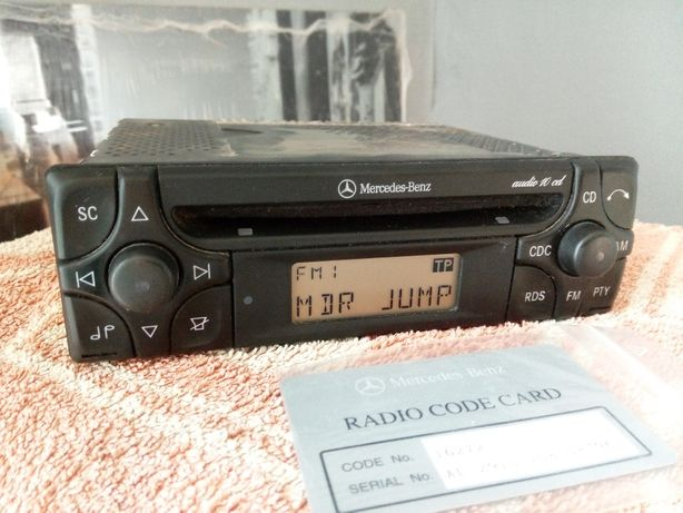 Radio Mercedes audio 10 cd + karta !! w202 w210 124 w201 w140 w126