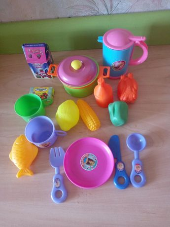 Набор детской игрушечный посуды в рюкзаку для девочек. Новый.