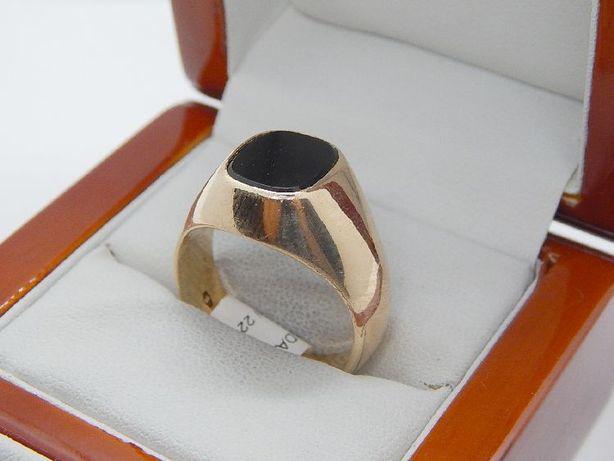 złoty sygnet, pierścień pr 585 (14k) waga 16,8 g rozmiar 27/28