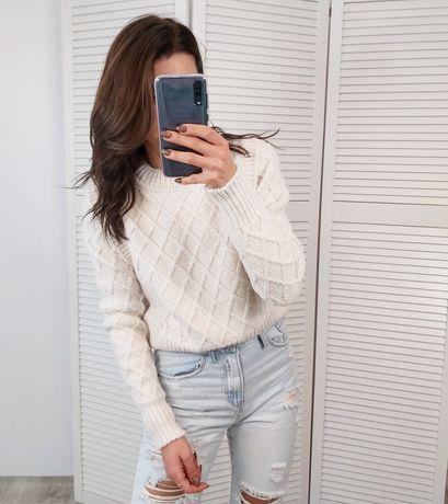 Sweter sweterek jasny beż nowy najwyższa jakość