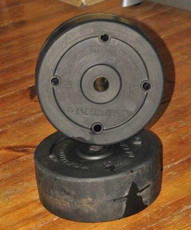 Obciążenie gumowe 2 x 5 kg rehabilitacyjne