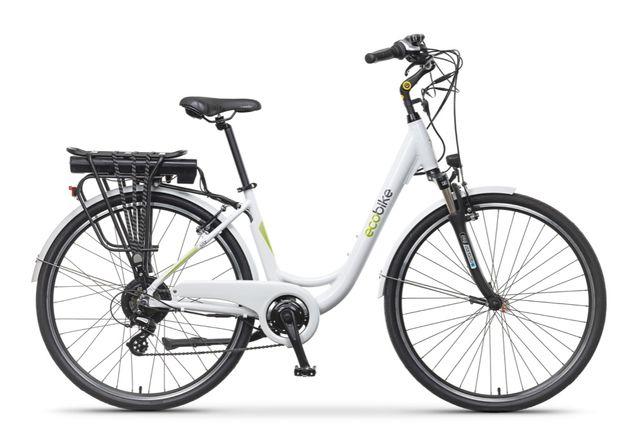 "Rower elektryczny EcoBike City L White 28"" PRO silnik BAFANG"