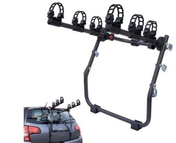 Uchwyt na 3 rowery na klapę samochodu