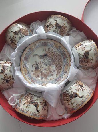 Zestaw prezentowy porcelana porcelanowe filiżanki ze spodkami komplet