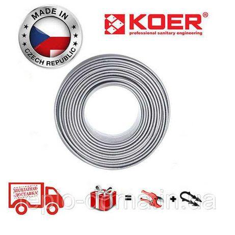 Труба 16 для теплого пола Koer PE RT PEX-B (SILVER) цвет серый