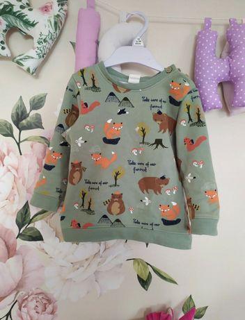 Bluza H&M 92 zwierzątka