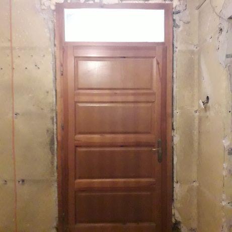Drzwi drewniane wewnętrzne 100 cm