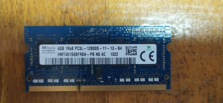 Оперативна пам'ять DDR 3L 4GB для ноутбука