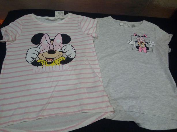 Mickey minnie H and M 2 nowe bluzeczki
