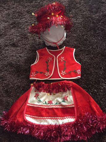 Костюм новогодний карнавальный на утреник Красная Шапочка, вишиванка
