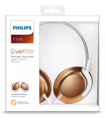 Słuchawki PHILIPS Flite Everlite SHL4805RG różowe złoto z mikrofonem
