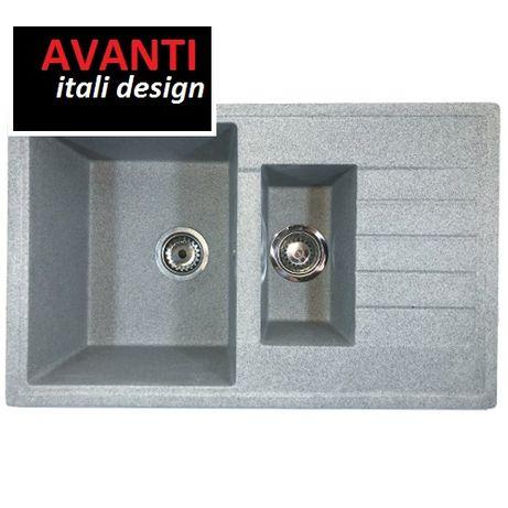 Акция!Гранитная мойка двойная для кухни Avanti 795 все цвета!