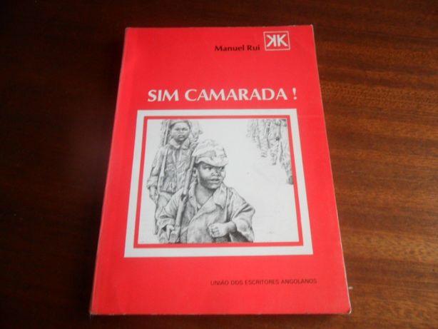 """""""Sim Camarada!"""" de Manuel Rui - 2ª Edição de 1985"""