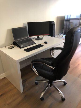 Secretária / Escrivaninha Malm Ikea e Cadeira de Escritório Conforama