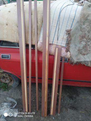 Дверная коробка ПВХ комплект, дерев'яна 80мм. Золота вільха