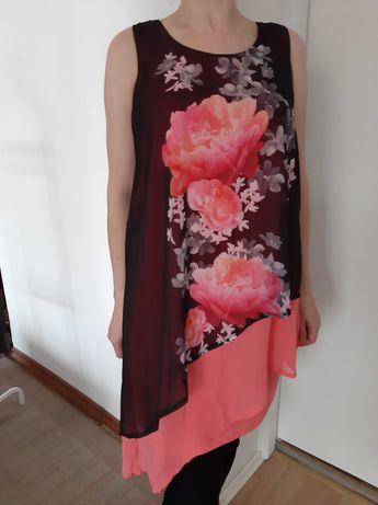 Sukienka tunika L zwiewna na lato