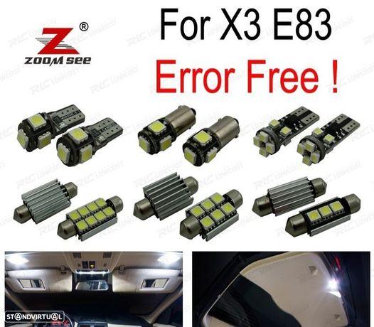 KIT COMPLETO DE 14 LÂMPADAS LED INTERIOR PARA BMW X3 E83 (2004- 2010)