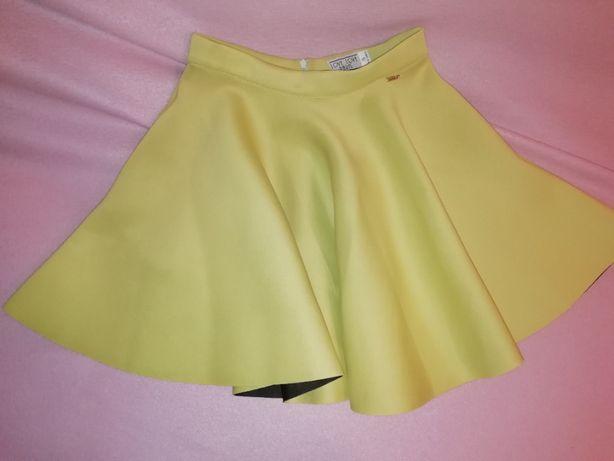 spódniczka limonkowa