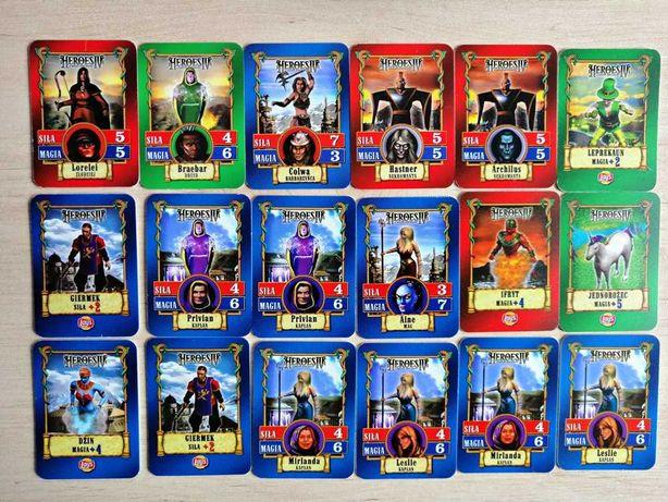 Karty kolekcjonerskie Heroes IV Lays