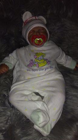 Zestaw ubranko  śpioszki pajacyk śpiwór 50-56 bluza 0-3 m lalka reborn