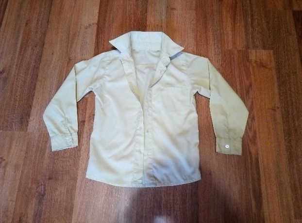 Школьная рубашка с длинным рукавом на мальчика 6-8 лет