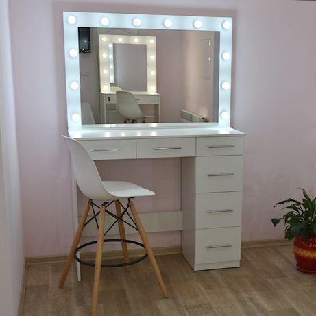 Макияжный гримерный визажный стол гримерное зеркало с подсветкой