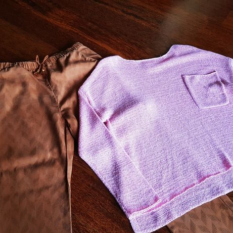 Sweter Zara,  spodnie H&M rozm. 124