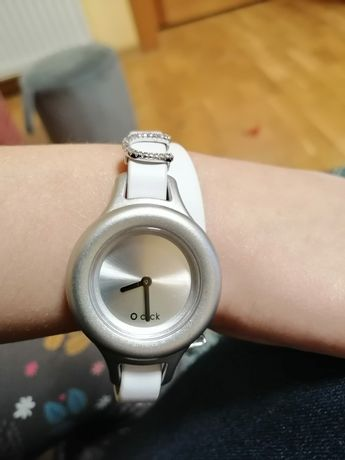 Obag oclock click zegarek o bag o'clock srebrny