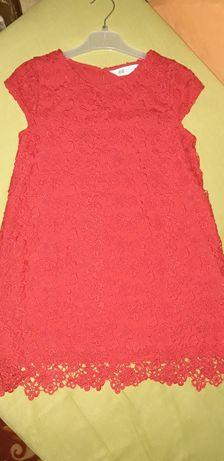 Кружевное нарядное платье на 8-10лет