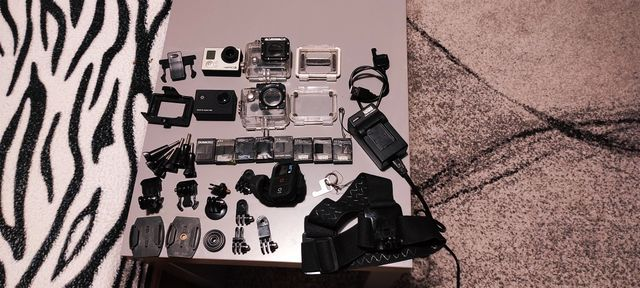 Go pro Hero 3 Black + akcesoria +druga kamera gratis