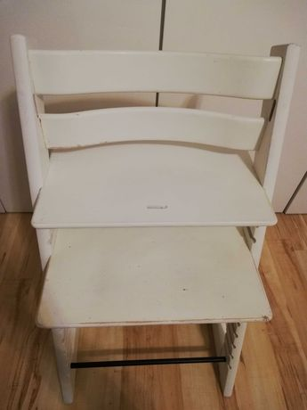Krzesełko Białe Tripp Trapp Stokke nowy model