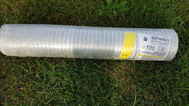 przewód elastyczny aluminiowy wentylacyjny typu spiroflex rura