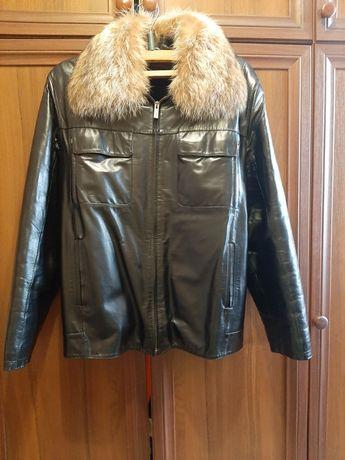 Чоловіча кожана куртка 2 в 1