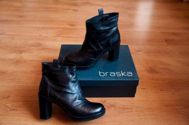 кожа Braska 39 Испания ботильоны ботинки сапоги челси Браска