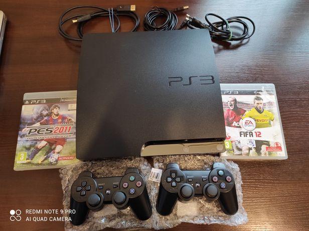 Konsola PlayStation ps3 + 2 nowe pady + gra + okablowanie + gwarancja